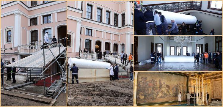 35 metrekarelik Çölde Av tablosu Milli Saraylar Resim Müzesi'ne taşındı