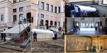 35 metrekarelik Çölde Av tablosu Milli Saraylar Resim Müzesine taşındı