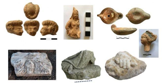 İzmirde Antik Çağ Funlarına ait heykeller bulundu