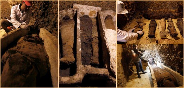Minye'deki tarihi mezarlarda 10'u çocuklara ait 40 mumya bulundu