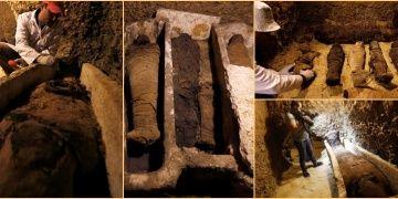 Minyedeki tarihi mezarlarda 10u çocuklara ait 40 mumya bulundu
