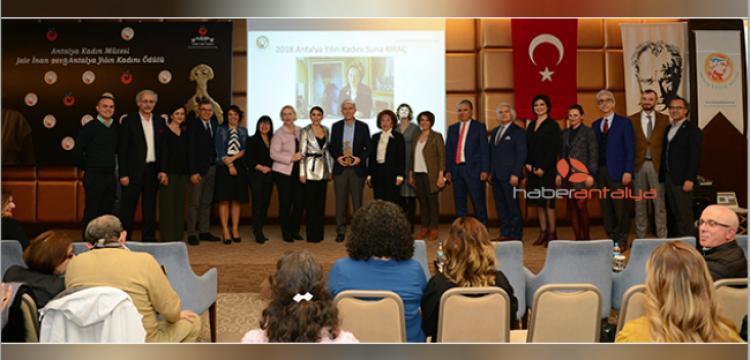 Prof. Dr. Jale İnan 2018 Antalya Yılın Kadını ödülü Suna Kıraç'ın oldu