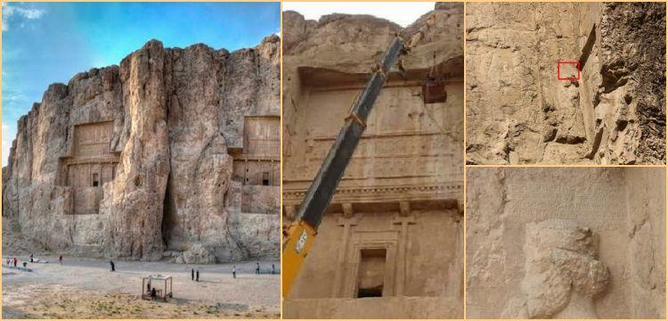 Pers Kralı Darius'un mezarı yakınında üç dilli yazıt keşfedildi