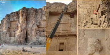 Pers Kralı Dariusun mezarı yakınında üç dilli yazıt keşfedildi