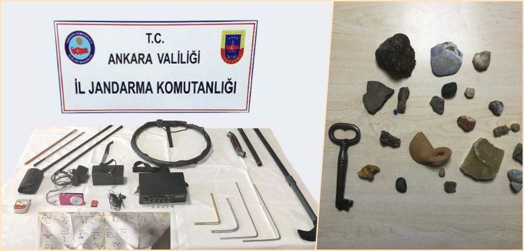 Ankara'nın iki ilçesinde 10 kişi tarihi eser kaçakçılığından yakalandı