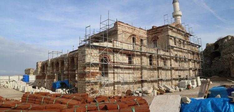 Enez Fatih Caminin restorasyonu tamamlanmak üzere