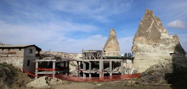 İşte Nevşehir'deki tartışmalı otel inşaatının durdurulma nedeni