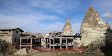 İşte Nevşehirdeki tartışmalı otel inşaatının durdurulma nedeni