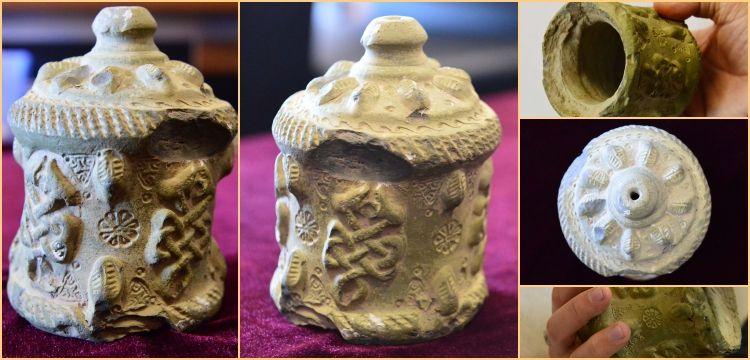 Harran'da seramikten yapılmış 900 yıllık tıpalı ilaç şişesi bulundu