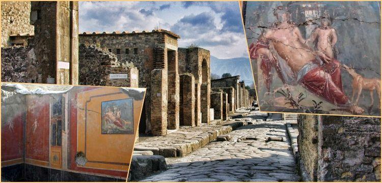 Pompeii antik kentinde bir evde Narkissos freski bulundu