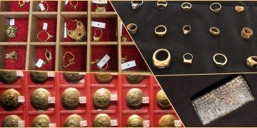 Kuyumcu dükkanını dolduracak kadar tarihi eser olabilecek mücevher yakalandı