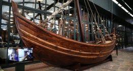 Batık Bizans teknesinin replikası Yenikapı 12 Rahmi M. Koç Müzesinde