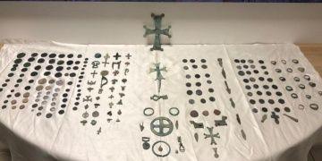 Karabükte tarihi eser olduğu tahmin edilen 227 parça obje yakalandı