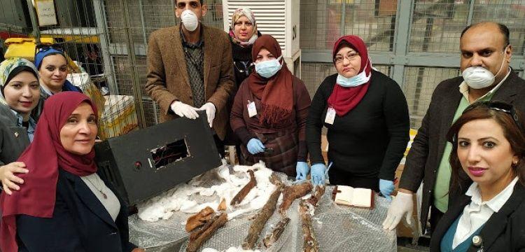 Mısır'dan Belçika'ya kaçırılmak istenen mumya kemikleri yakalandı