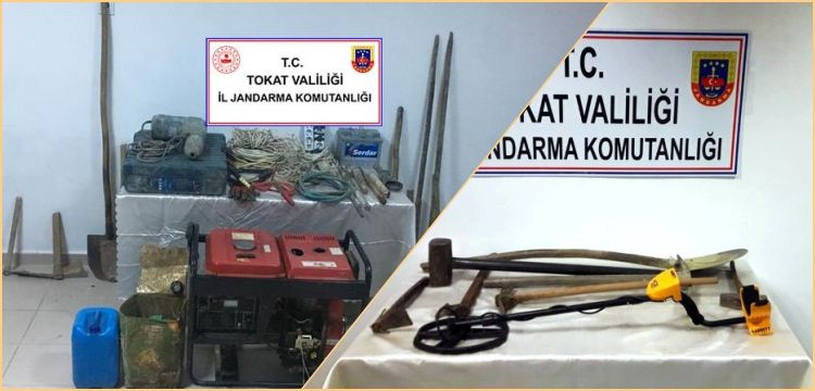 Tokat'ta aynı gün bir düzine defineci yakalandı