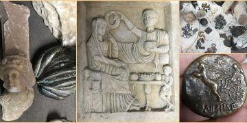 İstanbulda mezar steli, mermer heykeller ve sikkeler yakalandı