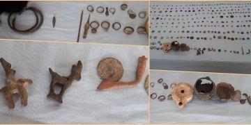 Gaziantepte bir evde 313 sikke ve tarihi eser olabilecek 32 parça yakalandı