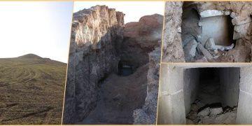 Definecilerin tepeyi parçalayarak anıt mezarı yağmaladığı anlaşıldı