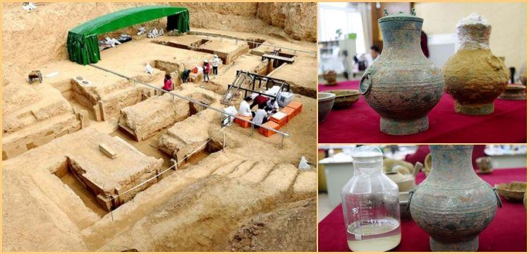 Çin'de 2 bin yıllık mezardaki sürahiden 'ölümsüzlük iksiri' çıktı