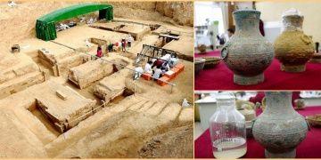 Çinde 2 bin yıllık mezardaki sürahiden ölümsüzlük iksiri çıktı