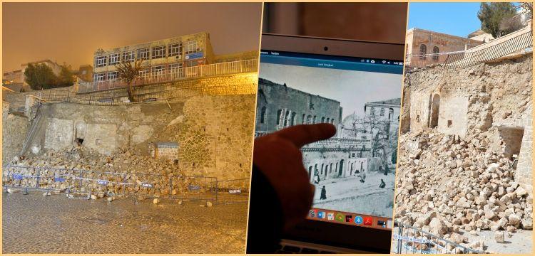 Mardin'de duvar çökünce aranıp bulunmayan mescit ortaya çıktı