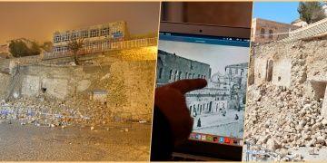 Mardinde duvar çökünce aranıp bulunmayan mescit ortaya çıktı