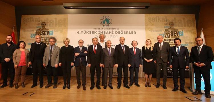 Üsküdar Üniversitesi'nin Yüksek İnsani Değerler 2019 Ödülleri verildi