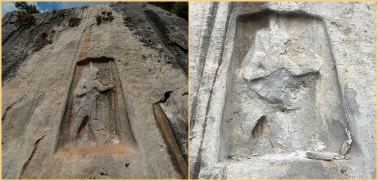 Üç bin yıllık Hitit anıtı Karabel Kaya Kabartması böyle parçaladı
