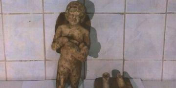 Afyonkarahisarda melek figürlü heykel yakalandı