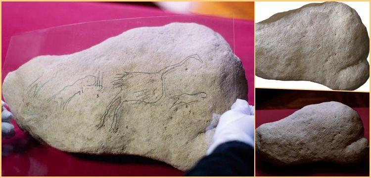 İspanya'da bulunan taşlardaki kaya sanatı çizimleri 12 bin yıldan yaşlı iddiası
