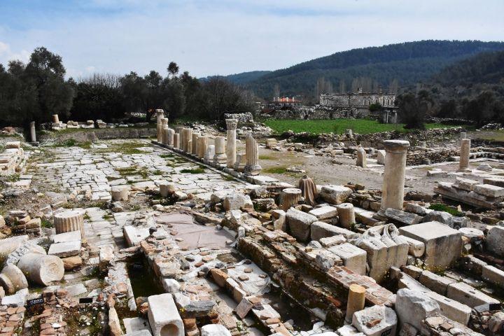 Gladyatörler kenti Stratonikeia'nın antik lahitleri özel alanda sergilenecek
