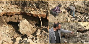 Karamanda bir tarlada kemerli tarihi yapı kalıntıları bulundu
