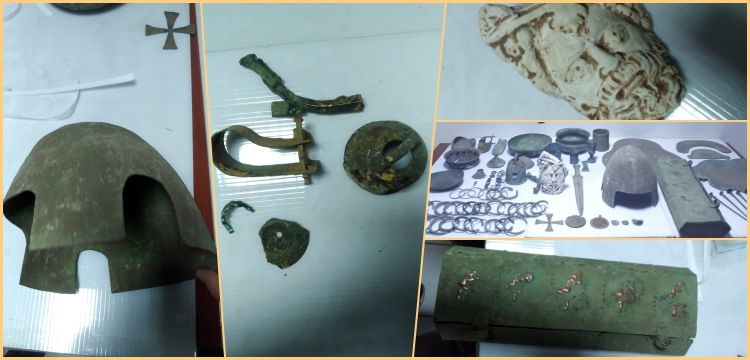 Malazgirt'te ölen Bizanslı subayın mezarını soyduğu sanılan 2 kişi yakalandı