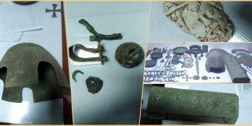 Malazgirtte ölen Bizanslı subayın mezarını soyduğu sanılan 2 kişi yakalandı