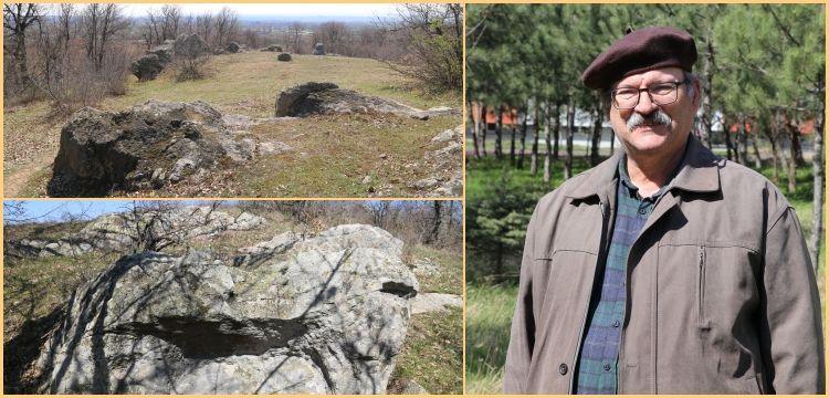 Edirne'de tapınak ve gözlemevi işlevi gören Trak kaya anıtı bulundu iddiası
