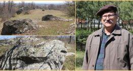 Edirnede tapınak ve gözlemevi işlevi gören Trak kaya anıtı bulundu iddiası