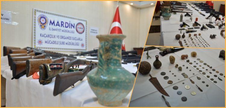 Mardin'deki operasyonlarda çok sayıda silah ve tarihi eser ele geçirildi