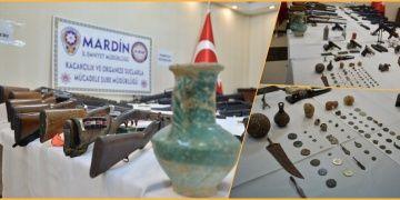 Mardindeki operasyonlarda çok sayıda silah ve tarihi eser ele geçirildi