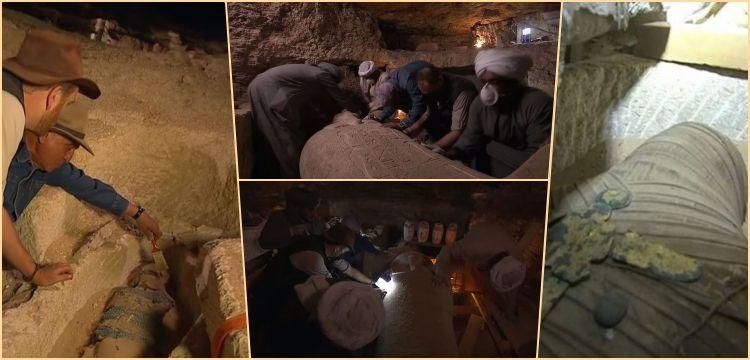 Mumya lahitinin açılışı Discovery Channel'da canlı yayınlandı