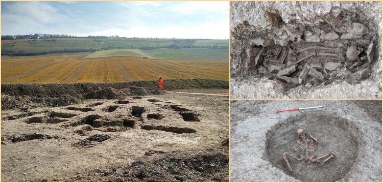 İngiltere'de su yolu inşaatında tuhaf gömüler bulunan mezarlık keşfedildi