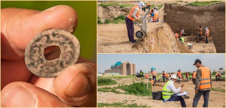 Kazakistan'daki kazılarda Türgişlere ait 1300 yıllık sikke bulundu