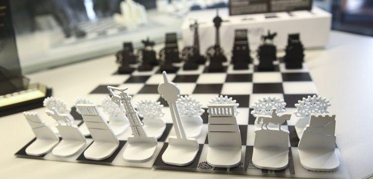 Ankara'ya özel tasarlanan satranç takımı müzelerde satılacak