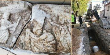 Susurlukta kanalizasyon çalışmasında tarihi kalıntılar bulundu