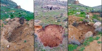 Çanlı Kilisenin çevresindeki kaya mezarları definecilerce tahrip ediliyor