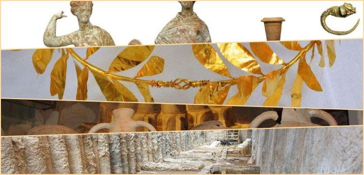 Selanik'te metro inşaatından çıkan arkeolojik hazineler göz kamaştırdı