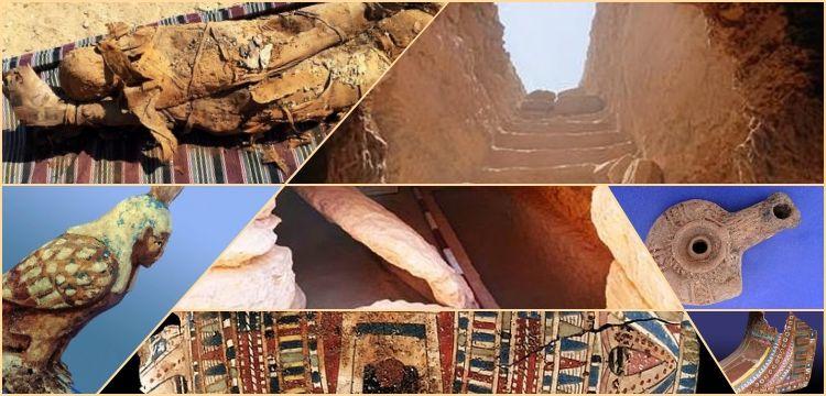 Mısır'da gizemlerle dolu 35 mumyalı yeni mezar odası keşfedildi