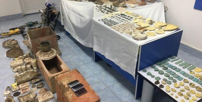 Kaçak kazılarda tarihi eserleri bulup sahtelerini üretmişler