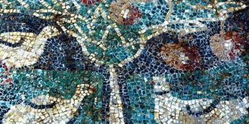 Elmalı mozaik Amasya Arkeoloji Müzesinde görülebilecek