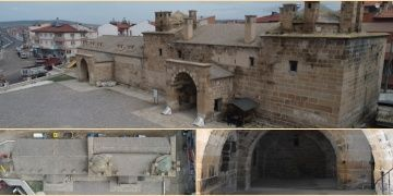 585 yıllık Döğer Kervansarayında restorasyon hazırlığı