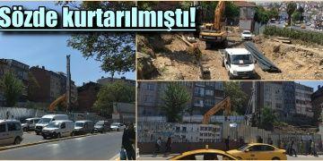 Yetkililerinin güya kurtardığı arkeolojik alanda inşaat tekrar başladı